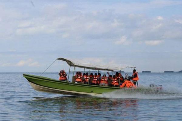 Ngamba Island sanctuary boat